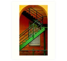 Post Office Stairs in Warwick Art Print