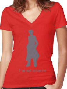 I am mad scientist Women's Fitted V-Neck T-Shirt