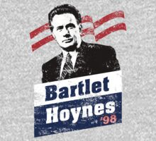 Bartlet/Hoynes '98 - West Wing Campaign T-Shirt by Pulchritude Polka