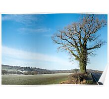Derbyshire Countryside Winter England  Poster