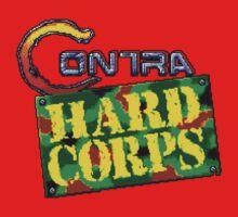 Contra Hard Corps (Genesis) title Screen Kids Tee