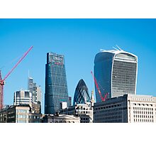 City of London Three Famous Buildings  Photographic Print