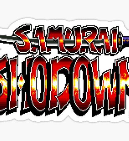 Samurai Showdown (Snes) title Screen  Sticker