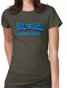 Altered Beast (Genesis) Title Screen Womens Fitted T-Shirt