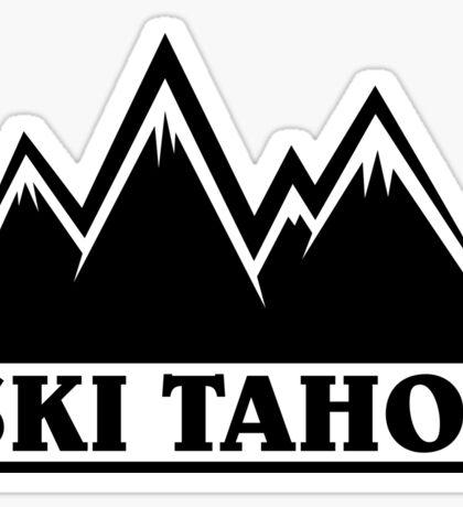 Ski Tahoe Mountains Sticker