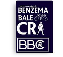 BBC Real Madrid Canvas Print