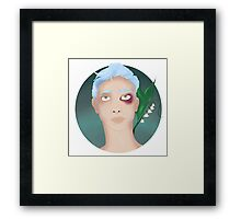 The Boy With Stars In His Eyes and On His Face Framed Print