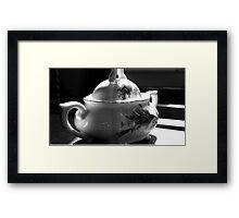Moss Rose Sugar Bowl Framed Print