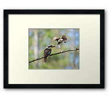 David and Goliath. Framed Print