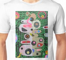 Large Shapes On Green Chaos Unisex T-Shirt
