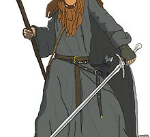 GandAlf (Sticker) by Eddie Mauldin