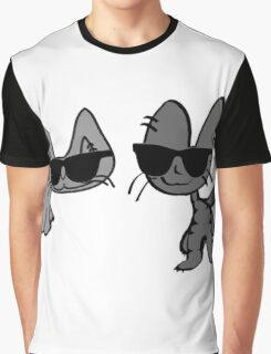 Two Cool Cats Take A Stroll Graphic T-Shirt