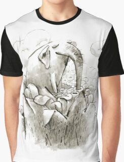 Fairy Elephant Drinks Nectar of a Giant Magic Flower Graphic T-Shirt