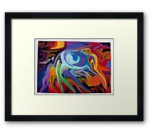abstract surreal pastel maelstrom nature Framed Print