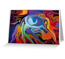 abstract surreal pastel maelstrom nature Greeting Card