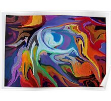 abstract surreal pastel maelstrom nature Poster