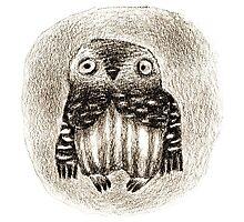 Little Owl Sitting In a Hollow by mazhuzha