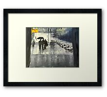 Rainy City Street Framed Print