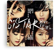 Sistar Korean Girlband by bimak Canvas Print