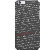 Burn -Hamilton (White Text) iPhone Case/Skin