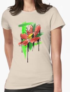 watercolor flower Womens Fitted T-Shirt