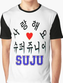 ♥♫SaRangHaeYo(I Love You) K-Pop Boy Band-Super Junior Clothes & Phone/iPad/Laptop/MackBook Cases/Skins & Bags & Home Decor & Stationary♪♥ Graphic T-Shirt