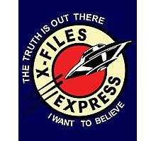 X Files Express Photographic Print