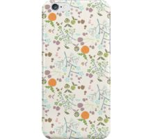 Vintage orange green abstract floral pattern iPhone Case/Skin