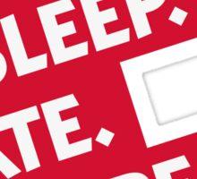 Essen. Sleeping. Multiply. Repeat. Sticker