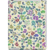 Vintage pink blue green floral pattern iPad Case/Skin