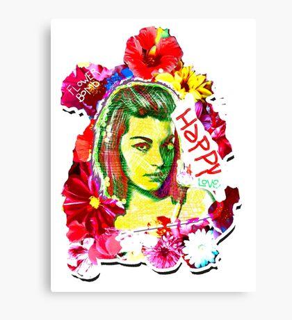 Beautiful Flower hippy girl Canvas Print