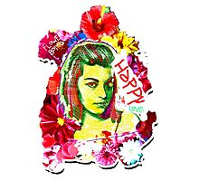 Beautiful Flower hippy girl Photographic Print