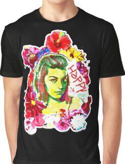 Beautiful Flower hippy girl Graphic T-Shirt