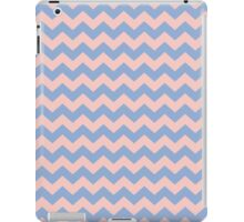 Rose Quartz Pink Blue 2016 Zigzag Chevron Pattern iPad Case/Skin