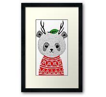 My Dear Deer Panda Framed Print