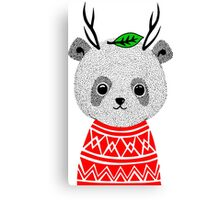 My Dear Deer Panda Canvas Print