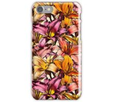 Daylily Drama - a floral illustration pattern iPhone Case/Skin