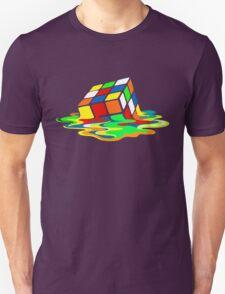 Big Bang Theory Sheldon Cooper Melting Rubik's Cube cool geek T-Shirt