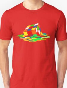 Big Bang Theory Sheldon Cooper Melting Rubik's Cube cool geek T-Shirt