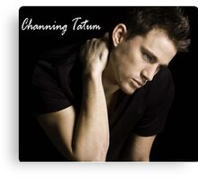 Cool Channing Tatum by bas Canvas Print