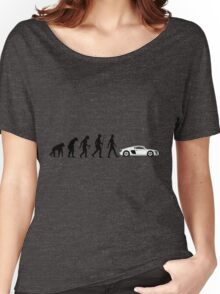 Evolution of Man - Audi R8/R10 Women's Relaxed Fit T-Shirt
