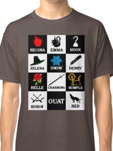 OUAT T-Shirt. Regina, Emma, Hook, Zelena, Snow, Henry, Belle, Charming, Rumple, Robin, Red Classic T-Shirt