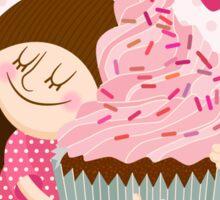 Girl & cupcake Sticker