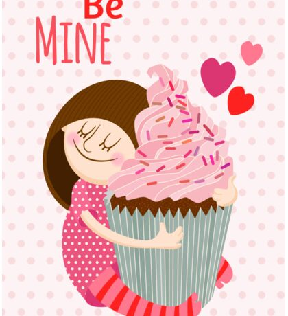 Girl & cupcake Sticker