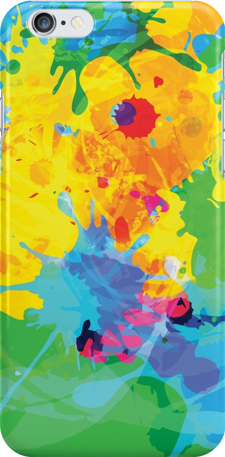 Colorful Ink Splash by Silvia Neto