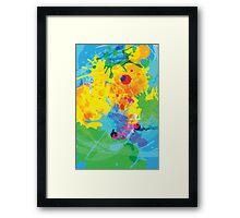 Colorful Ink Splash Framed Print