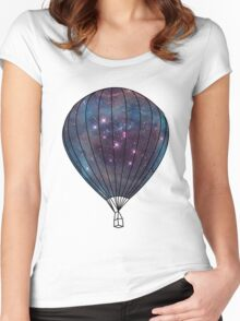 Galaxy Balloon Women's Fitted Scoop T-Shirt