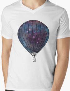 Galaxy Balloon Mens V-Neck T-Shirt