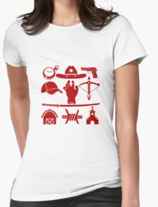 The Walking Dead - Symbols Womens Fitted T-Shirt