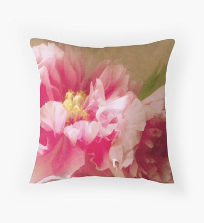 Raspberry Damask  Throw Pillow